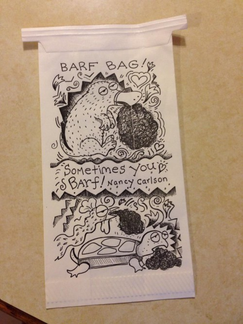 Nancy's Sometimes You Barf bag :>)