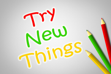Try New Things Concept
