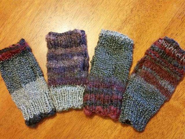 4 from scrap yarn