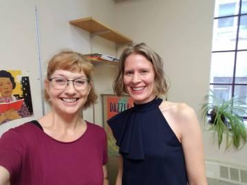 Laura with Millbrook Editorial Director Carol Hinz