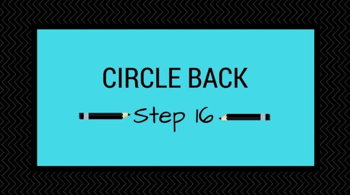 Step 16_ Circle Back